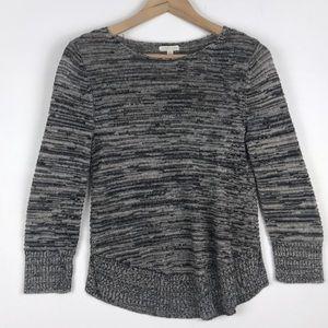 Eileen Fisher Linen knit Marled scoop neck top